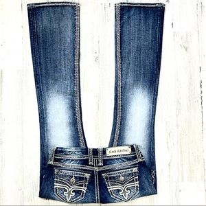 Rock Revival Lonnie Easy Boot Cut Jean's. Size 25